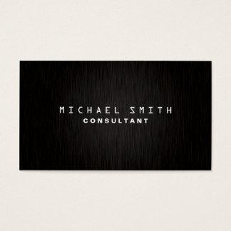 Professional Elegant Plain Modern Black Simple Business Card