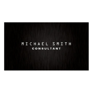Professional Elegant Plain Modern Black Simple Pack Of Standard Business Cards