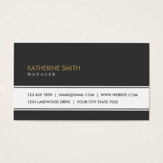 Professional Elegant Plain Simple Fashion Black Business Card