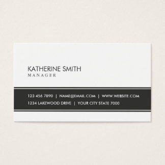 Professional Elegant Plain Simple Makeup Artist Business Card