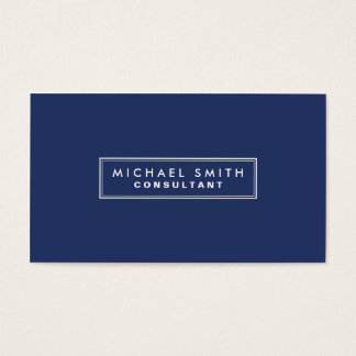 Professional Elegant Plain Simple Modern Blue Business Card