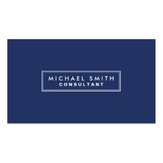 Professional Elegant Plain Simple Modern Blue Pack Of Standard Business Cards