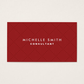 Professional Elegant Red Plain Makeup Artist Business Card
