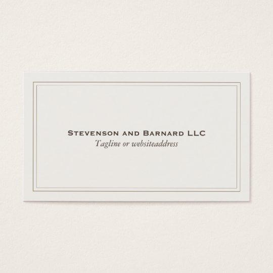 Professional Elegant Simple Plain Light Beige Business Card