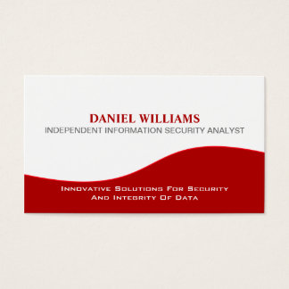 Professional Elegant Unique Security Analyst Business Card