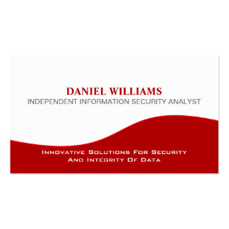 Professional Elegant Unique Security Analyst Pack Of Standard Business Cards