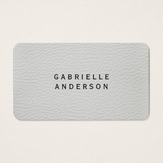 Professional Elegant White Leather Business Card