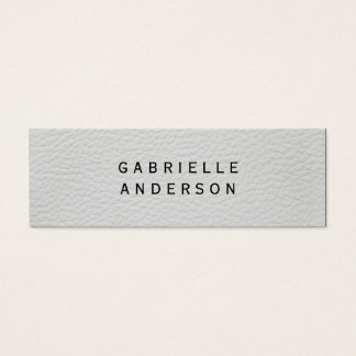 Professional Elegant White Leather Mini Business Card