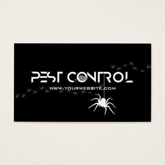 Professional Exterminator Pest Control Black White Business Card