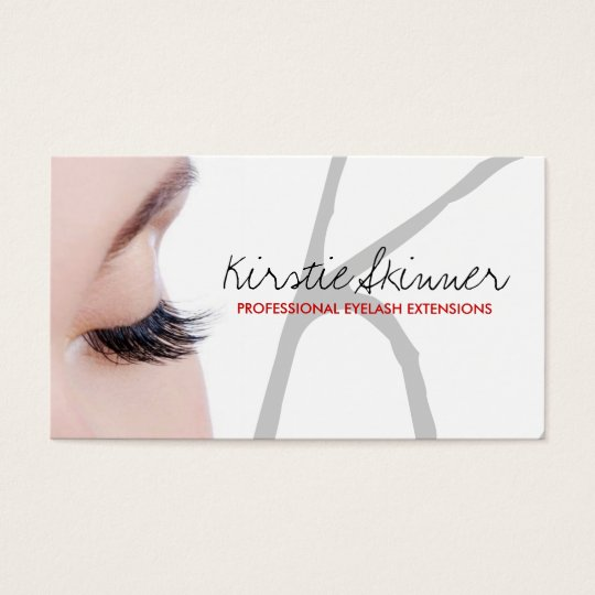Professional Eyelash Extensions / Business Cards