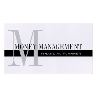 Professional Financial Planner Black and White Pack Of Standard Business Cards