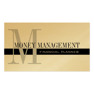 Professional Financial Planner Gold Black Pack Of Standard Business Cards