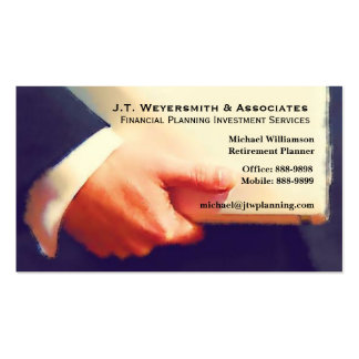 Professional Financial Planner or Banker Business Cards