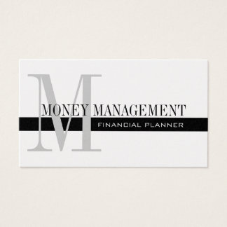 Professional Financial Planner Silver Black