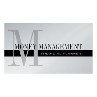 Professional Financial Planner Silver Black Pack Of Standard Business Cards