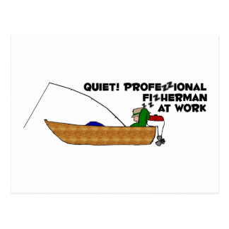 Professional Fisherman at Work Postcard