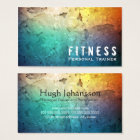 Professional Fitness Personal Trainer Colour Business Card