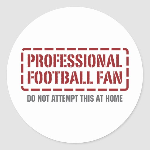 Professional Football Fan Round Stickers