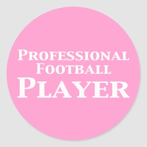 Professional Football Player Gifts Round Stickers