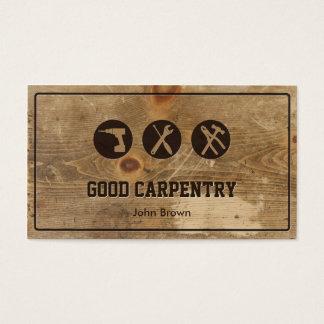 Professional Frame Wood Carpentry Repair Business Card