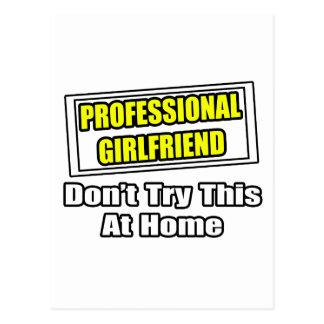 Professional Girlfriend...Joke Postcard