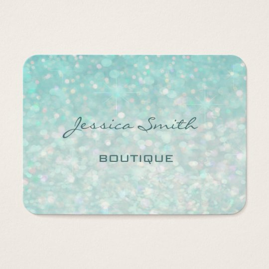 Professional glamourous modern elegant plain bokeh business card