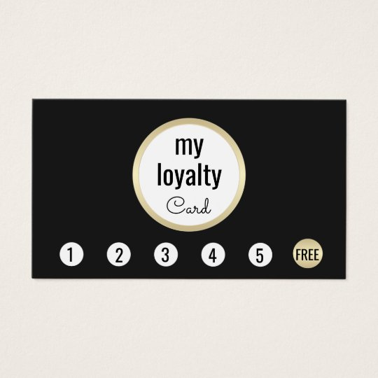 Professional Gold Black Customer Loyalty 6 Punch Business
