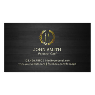 Professional Gold Logo Personal Chef Double-Sided Standard Business Cards (Pack Of 100)