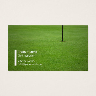 Professional Golf Instructor Business Card