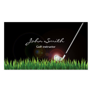 Professional Golf instructor Dark Business Card