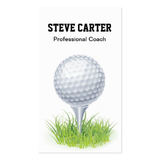Professional Golf Player Coach Card Business Card Template