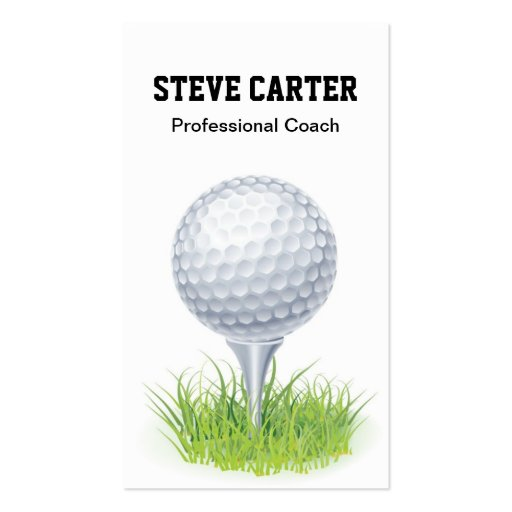 Professional Golf Player / Coach Card Business Card Template