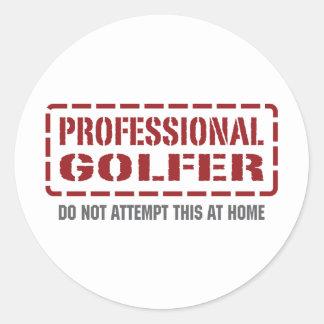 Professional Golfer Round Sticker