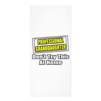 Professional Granddaughter...Joke Personalised Rack Card