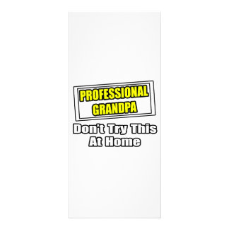Professional Grandpa Don t Try This At Home Custom Rack Cards