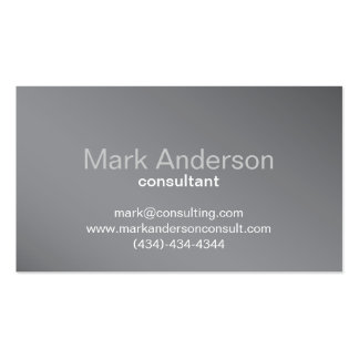 Professional Gray Background Business Card