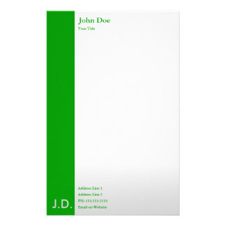 professional greens personalized stationery