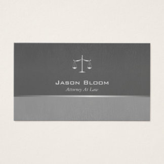 Professional grey Attorney Business Card