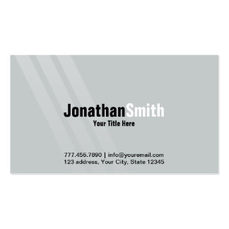Professional Grey Black With Stripes Pack Of Standard Business Cards
