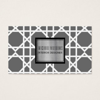 Professional Grey Geometric Smart Business Card