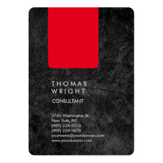 Professional Grey Red Modern Elegant Pack Of Chubby Business Cards