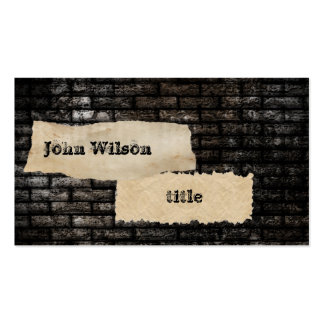 Professional grunge brick wall pack of standard business cards