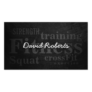 Professional Grunge Fitness Trainer Pack Of Standard Business Cards
