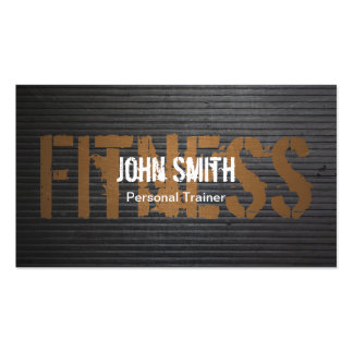 Professional Grunge Metal Personal Trainer Pack Of Standard Business Cards