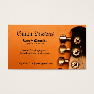 Professional Guitar Lesson Business Cards