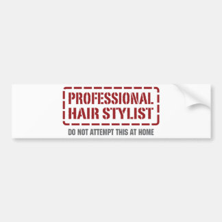 Professional Hair Stylist Bumper Sticker