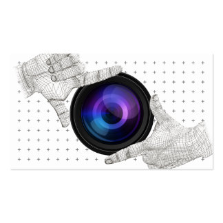 Professional Hands Frame & Camera Photography Pack Of Standard Business Cards