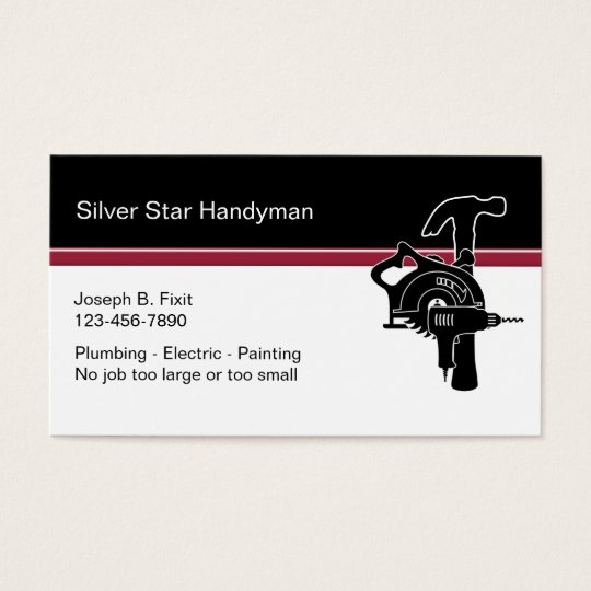 Professional Handyman Business Cards