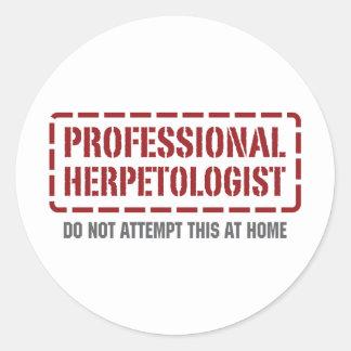 Professional Herpetologist Round Sticker
