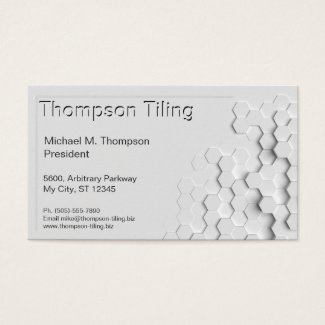 Professional Hexagon Tile Pattern Elegant Modern Business Card